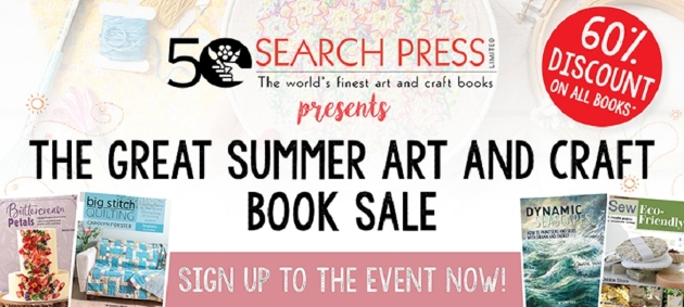 Join the Search Press great summer art and craft book sale!