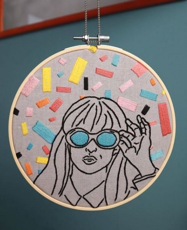 Modern hoop embroidery the revival of any craft and modern ideas