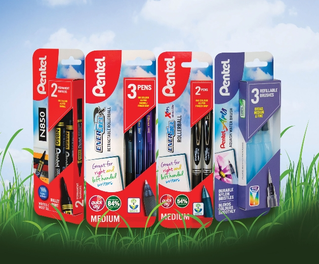Pentel launches new plastic-free packaging